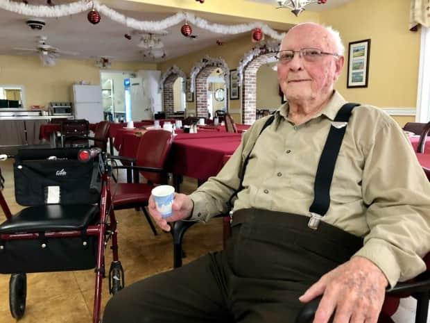 Long-term care resident Art Johnston, 98, was the first person other than a health care worker to receive the COVID-19 vaccine on P.E.I.