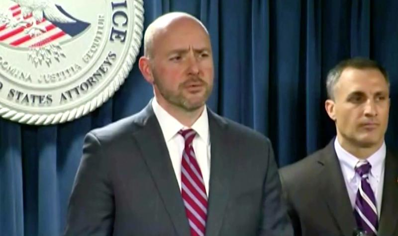 U.S. Attorney for the District of Massachusetts Andrew Lelling addresses the charges at a press conference on March 12, 2019. (Photo: screenshot)
