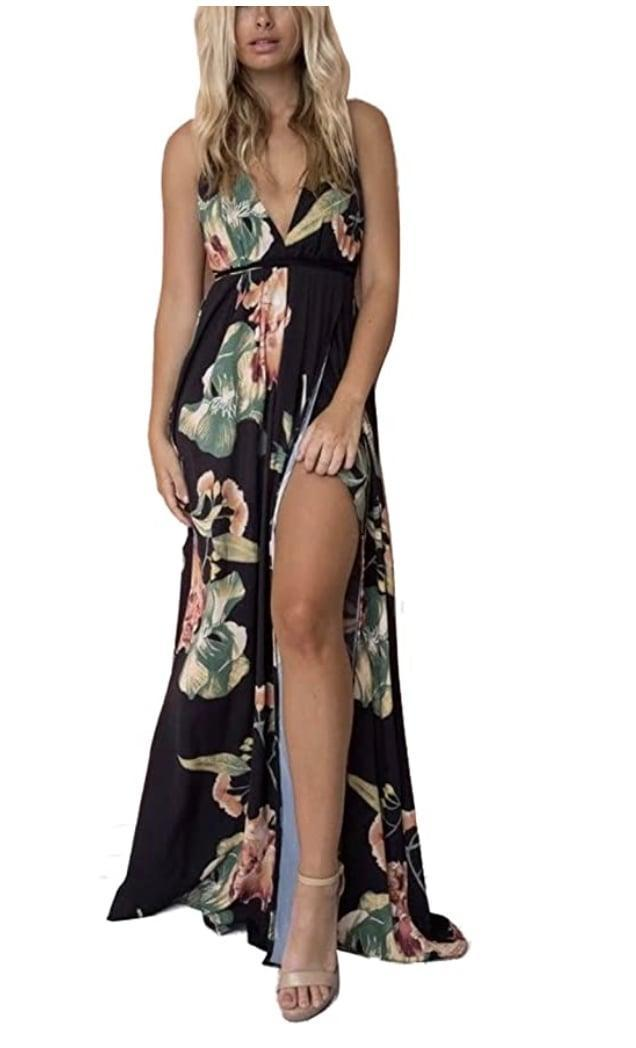 <p>Pack this <span>FFLMYUHULIU Strap Floral Backless Dress</span> ($25) for your next tropical vacation. </p>