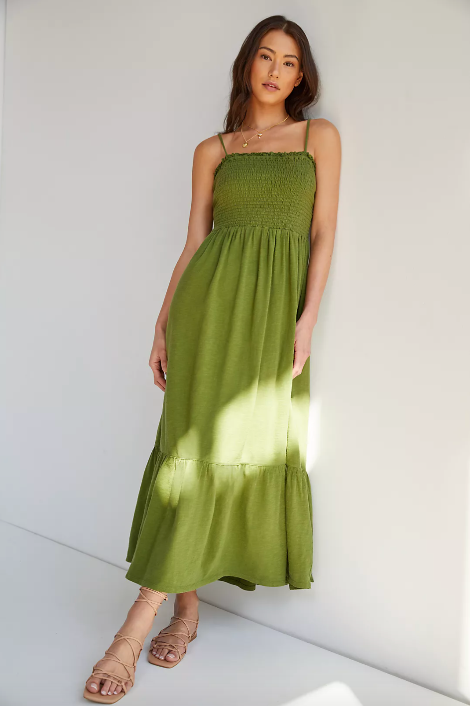 """<br><br><strong>Daily Practice</strong> Flounced Maxi Dress, $, available at <a href=""""https://go.skimresources.com/?id=30283X879131&url=https%3A%2F%2Fwww.anthropologie.com%2Fshop%2Fdaily-practice-by-anthropologie-flounced-maxi-dress"""" rel=""""nofollow noopener"""" target=""""_blank"""" data-ylk=""""slk:Anthropologie"""" class=""""link rapid-noclick-resp"""">Anthropologie</a>"""