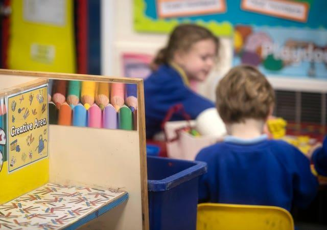 The youngest children are due to return to face-to-face teaching from next Monday (Danny Lawson/PA)