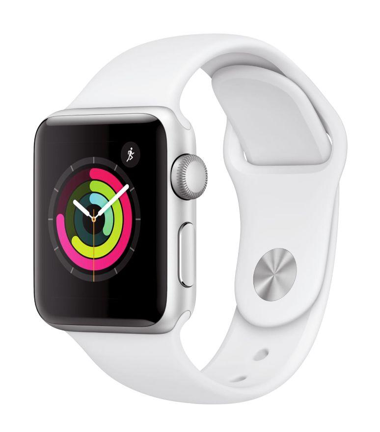 Apple Watch Series 3 GPS, 38mm, Sport Band, Aluminum Case in White. (Photo: Walmart)