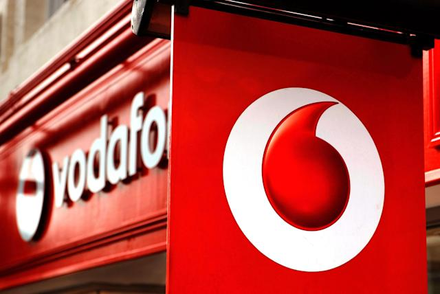 File photo dated 02/11/10 of a general view of a Vodafone store as mobile phone giant reported its first drop in annual revenues for seven years.