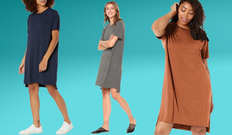 Work this effortlessly chic T-dress look day to night! (Photo: Amazon)
