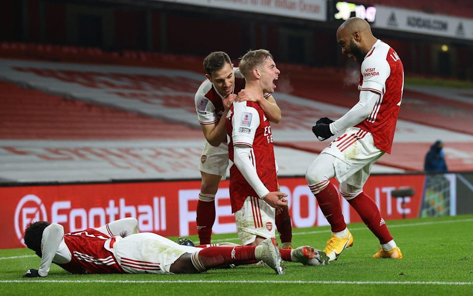 Emile Smith Rowe finally put Arsenal ahead deep into extra time - GETTY IMAGES