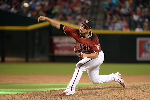 Silvino Bracho had a good year with the Arizona Diamondbacks last season and they seem to be moving parts. (Jennifer Stewart/Getty Images)