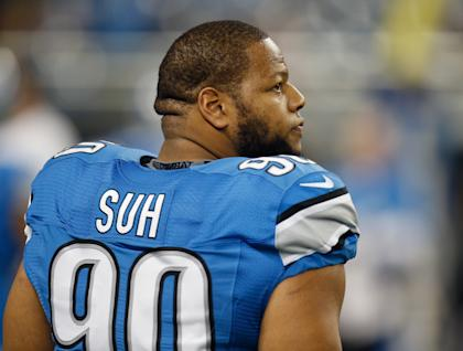 Ndamukong Suh is scheduled to become a free agent in the offseason. (Getty)
