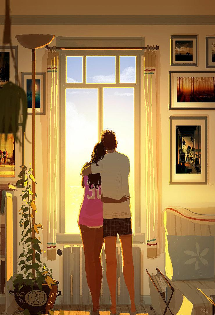 Pascal and Katrina have been together for 16 years and married for 10 years. (Pascal Campion Art)
