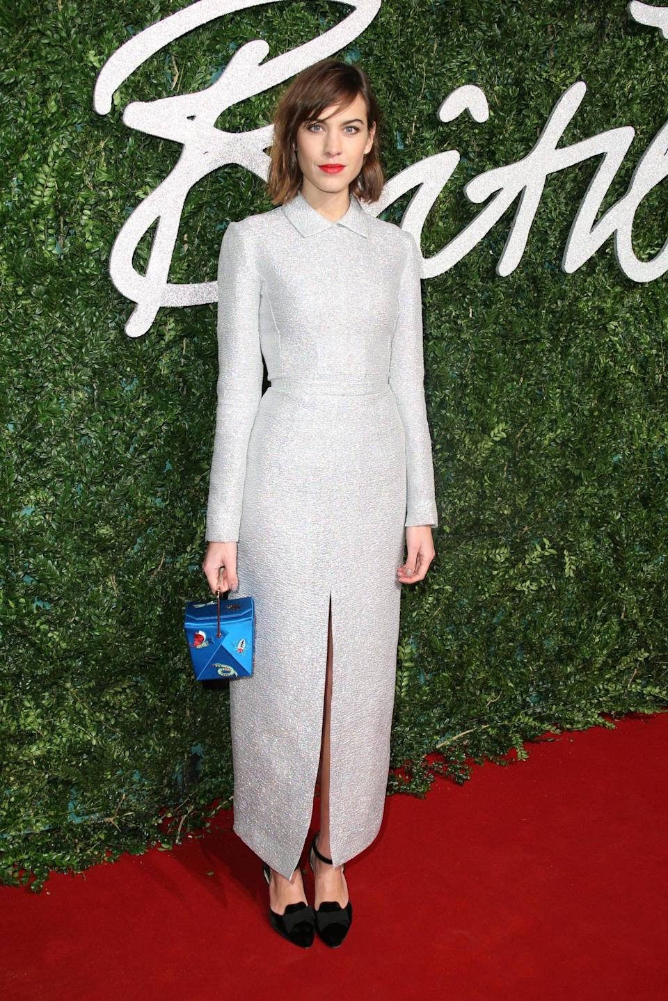 Alexa Chung was wearing Emilia Wickstead, a designer who frequently dresses fellow Brit, the Duchess of Cambridge.