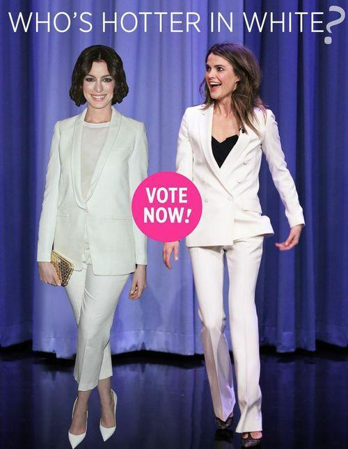Who Wore White Better Anne Hathaway Or Keri Russell