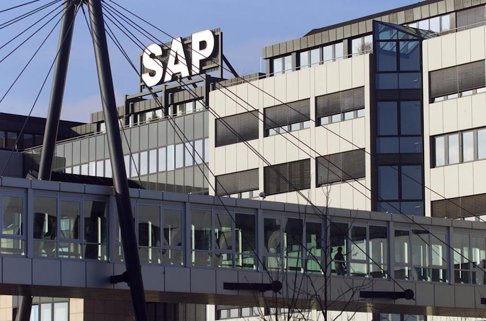 """<b>25. SAP // +8% // $15,641 $m</b> <br><br>SAP, the market and technology leader in business management software, solutions, and services, continues to perform well due to its embrace of cloud computing and mobile business apps. The German multinational software corporation has an unusual challenge in advertising — marketing complex business products most often bought by IT managers and corporate executives.<b><br><br> MORE RELATED TO THIS STORY </b><br> —<a href=""""http://ca.finance.yahoo.com/news/from-supercars-to-lana-del-rey--the-best-and-worst-of-the-paris-motor-show.html"""" data-ylk=""""slk:Lana Del Ray, plus the best and worst from the Paris Auto Show;outcm:mb_qualified_link;_E:mb_qualified_link;ct:story;"""" class=""""link rapid-noclick-resp yahoo-link"""">Lana Del Ray, plus the best and worst from the Paris Auto Show</a><span><br> —<a href=""""http://ca.finance.yahoo.com/photos/canada-tops-world-s-most-educated-countries-slideshow/"""" data-ylk=""""slk:Who are the most educated people in the world?;outcm:mb_qualified_link;_E:mb_qualified_link;ct:story;"""" class=""""link rapid-noclick-resp yahoo-link"""">Who are the most educated people in the world? </a><br> —<a href=""""http://www.interbrand.com/en/best-global-brands/2012/Best-Global-Brands-2012-Brand-View.aspx"""" rel=""""nofollow noopener"""" target=""""_blank"""" data-ylk=""""slk:Interbrand's Best Global Brands 2012"""" class=""""link rapid-noclick-resp"""">Interbrand's Best Global Brands 2012</a><br></span>"""