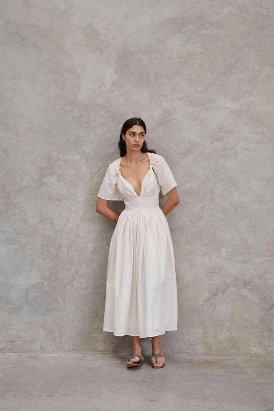 """<p><strong>Maggie Marilyn </strong></p><p>maggiemarilyn.com</p><p><strong>$795.00</strong></p><p><a href=""""https://maggiemarilyn.com/collections/dresses/products/the-marilyn-dress"""" rel=""""nofollow noopener"""" target=""""_blank"""" data-ylk=""""slk:Shop Now"""" class=""""link rapid-noclick-resp"""">Shop Now</a></p><p>Maggie Marilyn places ethics and environmental responsibility at the forefront of every garment. This dress screams summer.</p>"""