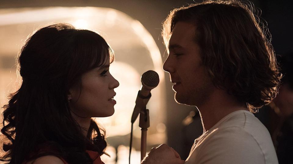 """<p>Set in politically conservative 1960s Madrid, this romantic drama follows the love triangle that forms between music producer Guillermo and aspiring singer Robert, who launch their own rock 'n' roll label together and compete for the affection of a beautiful producer named Maribel. </p> <p><a href=""""https://www.netflix.com/title/81040407"""" class=""""link rapid-noclick-resp"""" rel=""""nofollow noopener"""" target=""""_blank"""" data-ylk=""""slk:Watch 45 rpm on Netflix now."""">Watch <strong>45 rpm</strong> on Netflix now.</a></p>"""