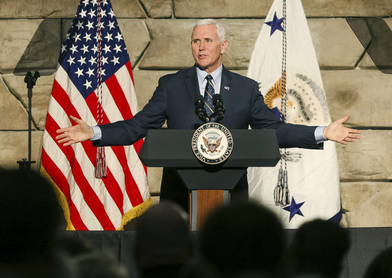 The Latest: Pence says fight against 'Obamacare' to continue