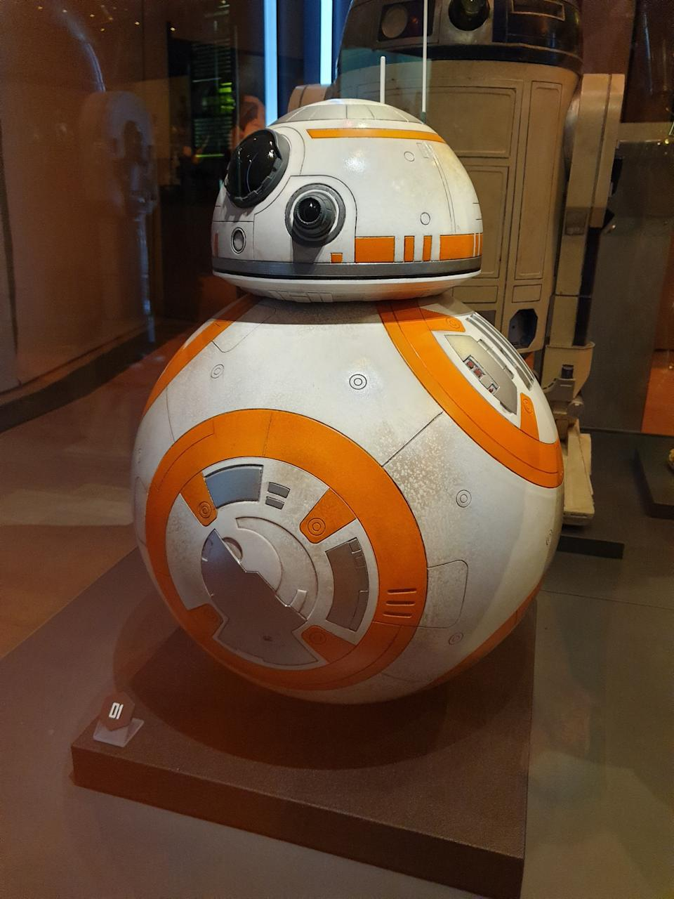 Prop of astromech droid BB-8 from Star Wars: The Force Awakens at the Star Wars Identities exhibition in Singapore at the Artscience Museum. (Photo: Teng Yong Ping)