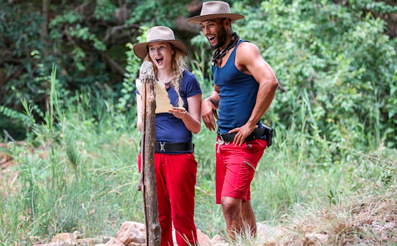 Many have been hoping for a blossoming romance between the two jungle hotties. Source: Ten