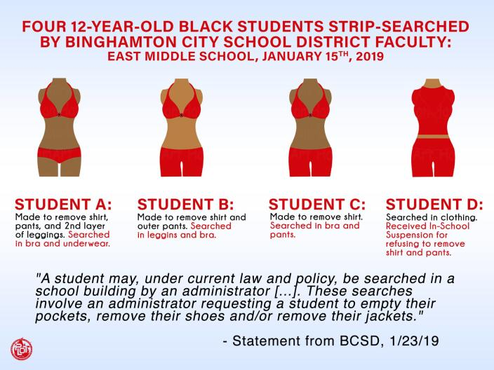 East Middle School in Binghamton, N.Y., is disputing claims that it strip searched four 12-year-old girls suspected of carrying drugs. (Photo: Facebook/Progressive Leaders of Tomorrow)