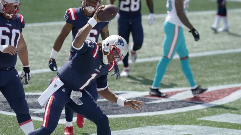 Cam Newton puts together vintage performance to lead New England over Miami