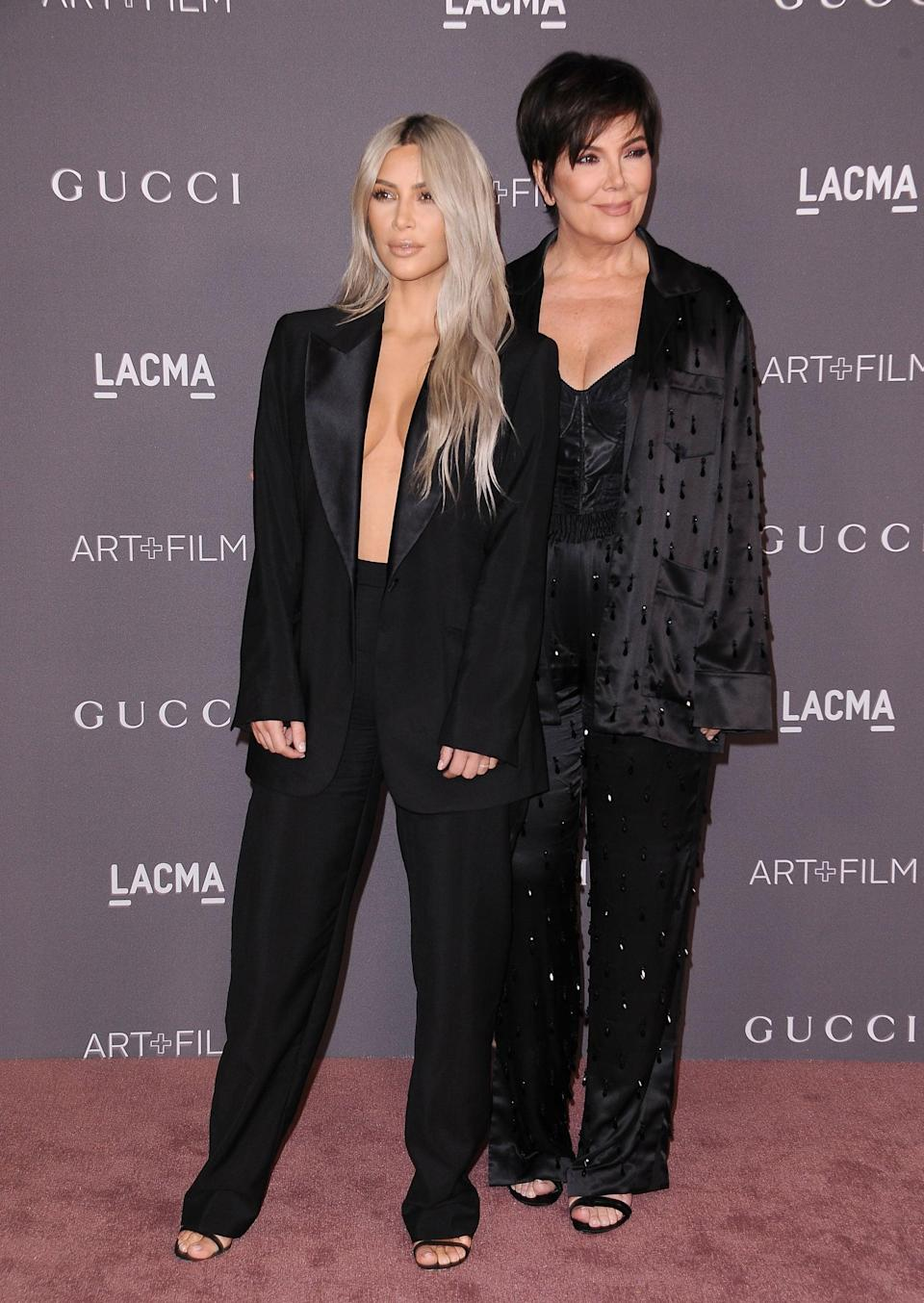 <p>By 2017, Kim started to opt for a more refined look like this sexy suit.</p>