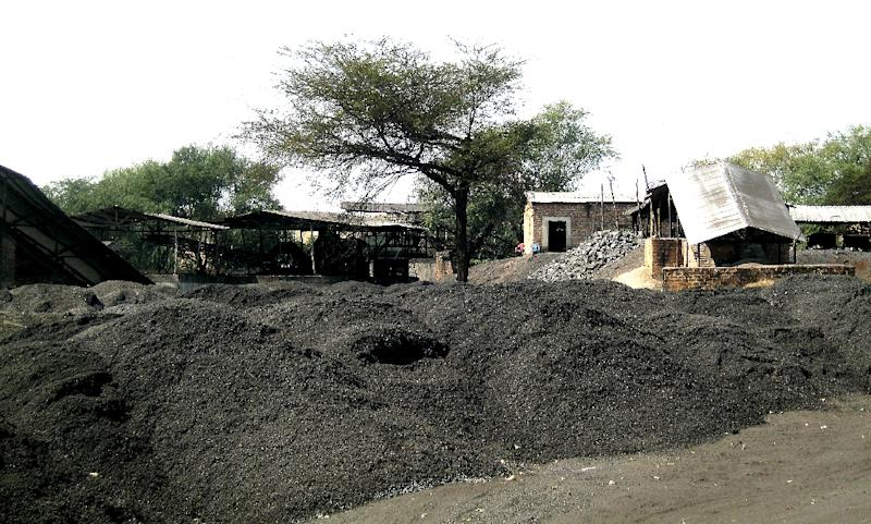 Partial view of a Chinese-owned coal mine in Sinazongwe, 325 km south of Lusaka, the capital of Zambia