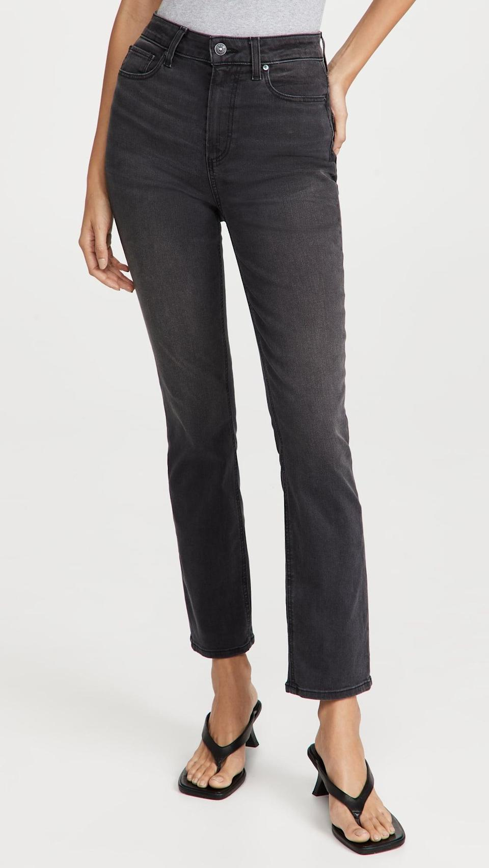 <p>These versatile <span>PAIGE Flaunt Denim Accent Jeans</span> ($225) would look great on a night out. Pair them with heels and a silky top and you're ready to go.</p>
