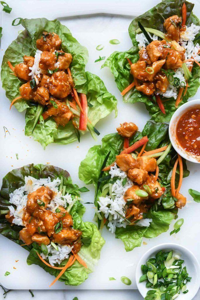 "<strong>Get the <a href=""https://www.foodiecrush.com/instant-pot-orange-chicken-lettuce-wraps/"" target=""_blank"" rel=""noopener noreferrer"">Instant Pot Orange Chicken Lettuce Wraps</a> recipe from Foodie Crush.</strong>"
