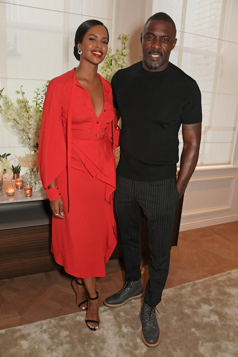 LONDON, ENGLAND - JUNE 05: Sabrina Dhowre Elba and Idris Elba attend the Cartier and British Vogue Darlings Dinner at the Residence at Cartier New Bond Street on June 5, 2019 in London, England. (Photo by David M. Benett/Dave Benett/Getty Images for Cartier)