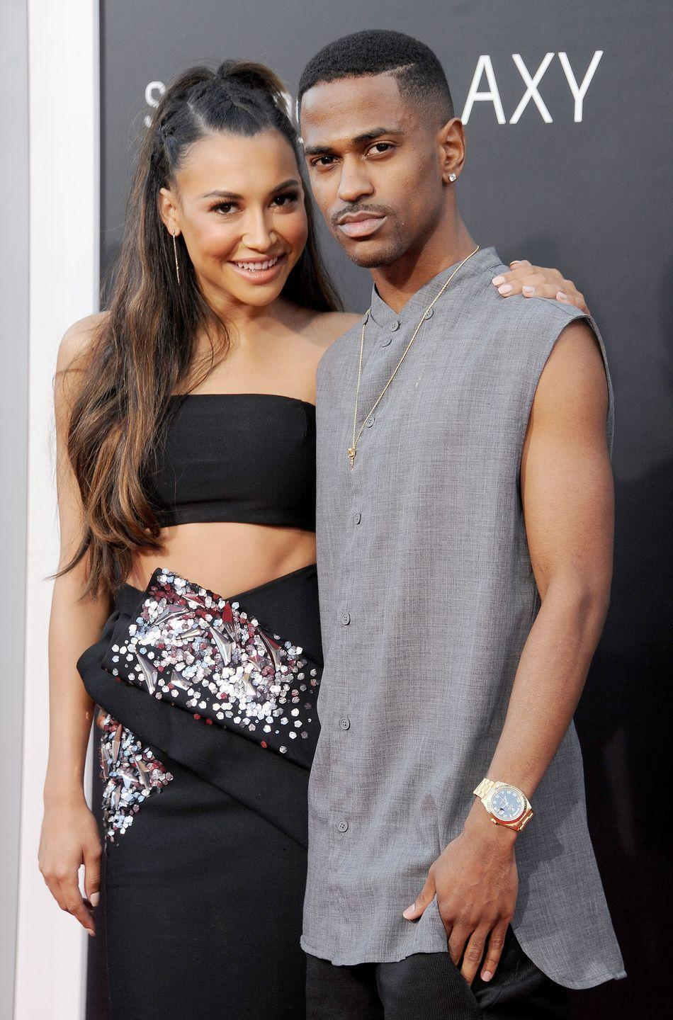 """<p>The couple met on Twitter and began dating in 2013, getting engaged that October. The rapper then called off their engagement in April 2014. """"I learned that I was no longer getting married from the internet, and at the same time as the rest of the world,"""" Rivera <a href=""""http://www.dailymail.co.uk/tvshowbiz/article-3788557/Naya-Rivera-claims-Big-Sean-called-wedding-caught-Ariana-Grande.html"""" rel=""""nofollow noopener"""" target=""""_blank"""" data-ylk=""""slk:wrote in her autobiography"""" class=""""link rapid-noclick-resp"""">wrote in her autobiography</a> <em>Sorry Not Sorry</em><span class=""""redactor-invisible-space"""">. """"</span>Not only were we no longer getting married, but apparently we weren't even together anymore.""""</p>"""