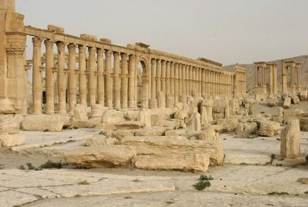 Columns are seen in the historical city of Palmyra, Syria, June 12, 2009. REUTERS/Gustau Nacarino