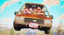 """<p><strong>Netflix's Description:</strong> """"A robot apocalypse put the brakes on their cross-country road trip. Now it's up to the Mitchells - the world's weirdest family - to save the human race.""""</p> <p><a href=""""https://www.netflix.com/title/81399614"""" class=""""link rapid-noclick-resp"""" rel=""""nofollow noopener"""" target=""""_blank"""" data-ylk=""""slk:Stream The Mitchells vs. The Machines on Netflix!"""">Stream <strong>The Mitchells vs. The Machines</strong> on Netflix!</a></p> <p>Related: <a href=""""https://www.popsugar.com/family/mitchells-vs-machines-parents-guide-netflix-48294800?utm_medium=partner_feed&utm_source=au_publisher&utm_campaign=related%20link"""" rel=""""nofollow noopener"""" target=""""_blank"""" data-ylk=""""slk:4 Things to Know About The Mitchells vs. The Machines Before Watching With Your Kids"""" class=""""link rapid-noclick-resp"""">4 Things to Know About The Mitchells vs. The Machines Before Watching With Your Kids</a></p>"""