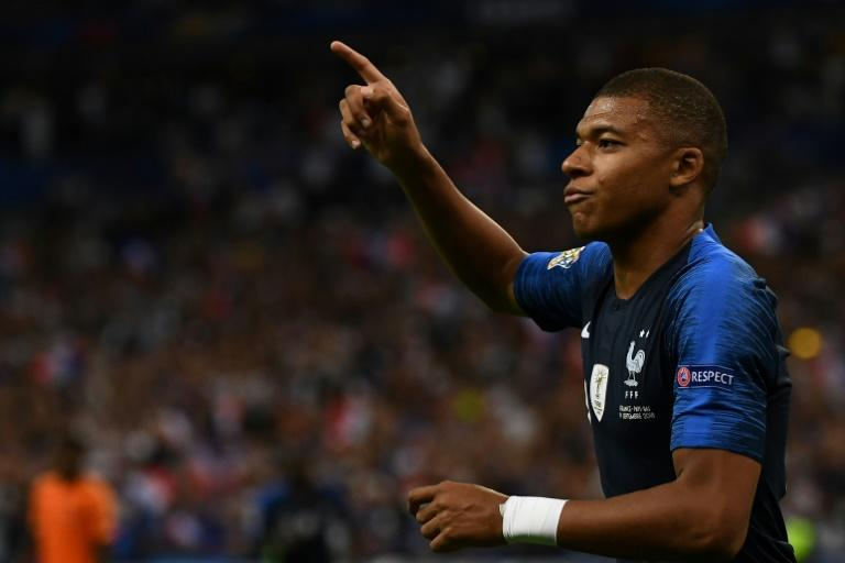 The explosive Kylian Mbappe got France's opener on a night of World Cup victory celebrations