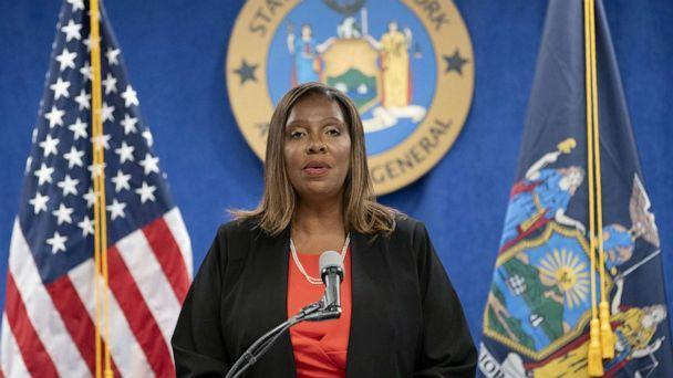 PHOTO: New York State Attorney General Letitia James speaks at a news conference, regarding a probe that found New York Governor Andrew Cuomo sexually harassed multiple women, in New York City, Aug. 3, 2021. (Eduardo Munoz/Reuters)