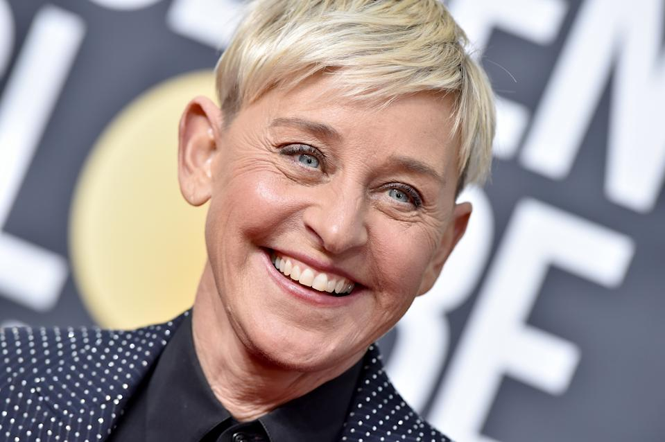 BEVERLY HILLS, CALIFORNIA - JANUARY 05: Ellen DeGeneres attends the 77th Annual Golden Globe Awards at The Beverly Hilton Hotel on January 05, 2020 in Beverly Hills, California. (Photo by Axelle/Bauer-Griffin/FilmMagic)