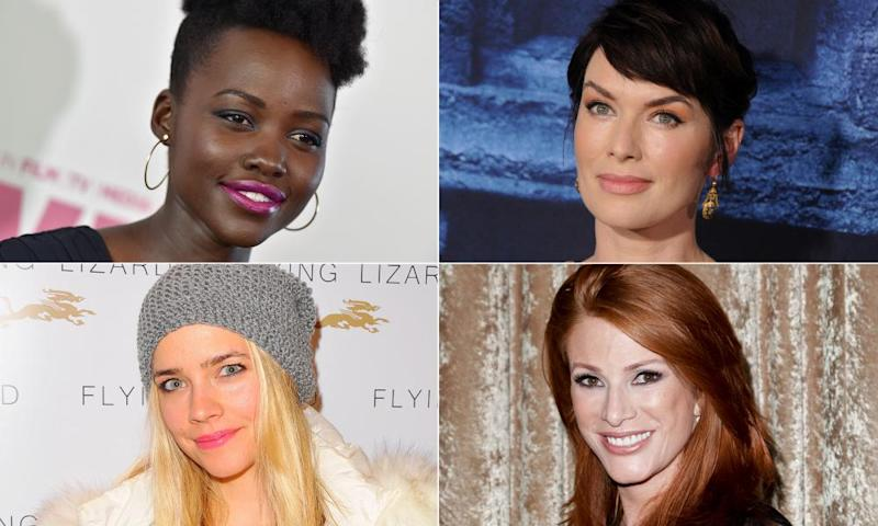 Clockwise from top left: Lupita Nyong'o, Lena Headey, Angie Everhart and Jessica Barth