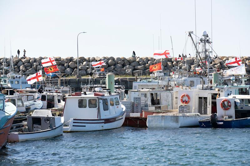 Sipekne'katik First Nation boats in Saulnierville, N.S. on Sept. 20, 2020. (Photo: Mark O'Neill/The Canadian Press)