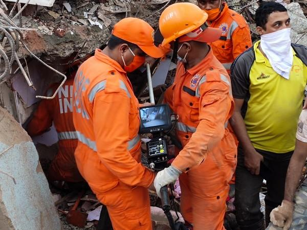 Three teams of the NDRF are present at the spot to carry out rescue operations. (Photo: ANI)