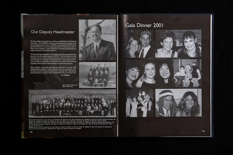 The yearbook from the 2000/2001 school year at West Point Grey Academy shows several people, some of whom are still on staff at the school, dressed up for the gala—however only Trudeau appears to have darkened his skin. | TIME