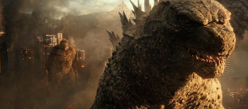 """Things get wrecked when two titans come to town in the action-packed monster movie """"Godzilla vs. Kong."""""""
