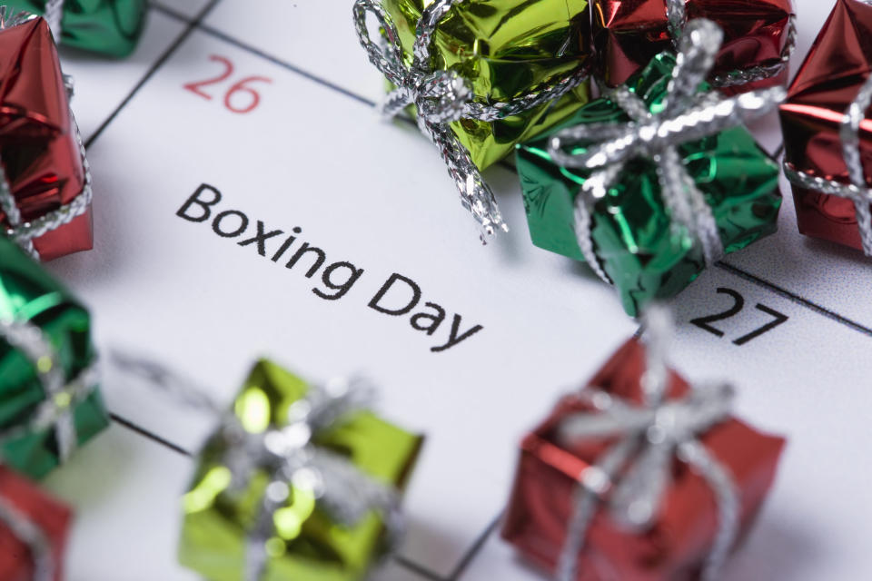 Here are all the Boxing Day sales you'll want to know about [Photo: Getty]