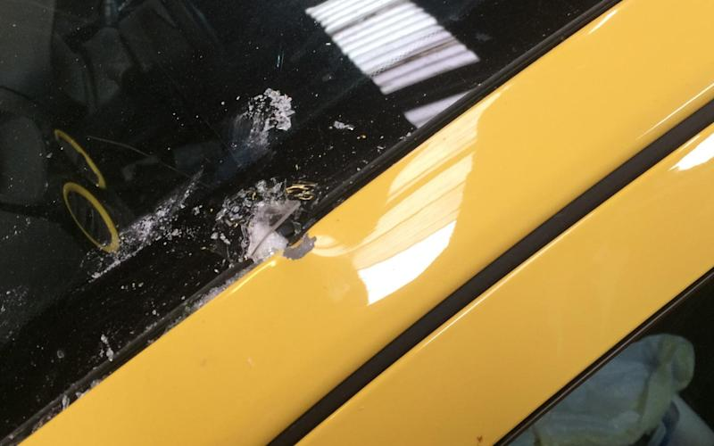 Other damage to Peter Maddox's car - Credit: SWNS
