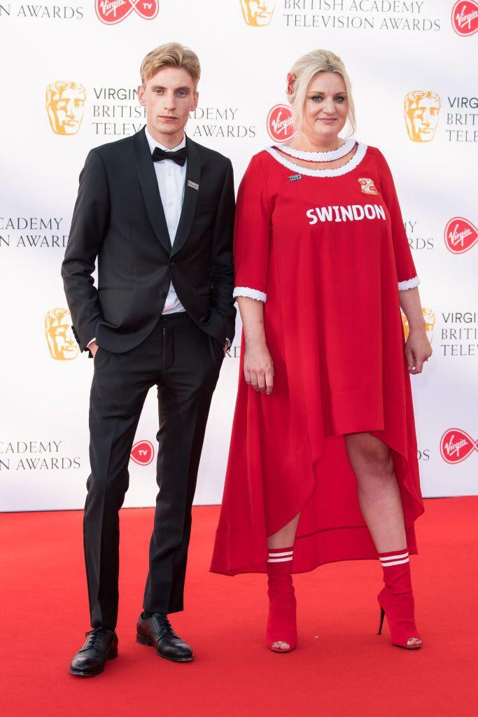 Daisy May Cooper with Charlie Cooper at the BAFTA Television Awards 2018.