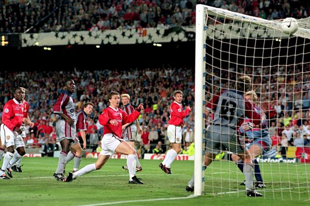 <p>Manchester United 2 Bayern Munich 1: In United's 1999 Treble winning year, they trailed 1-0 to Munich in the Champions League final going into injury time. Substitute Teddy Sheringham then levelled before fellow sub Ole Gunnar Solskjaer scored THAT winner even later in injury time </p>