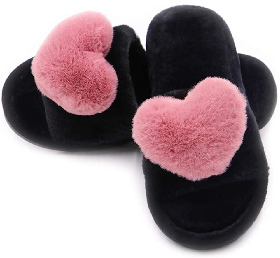 <p>How cute are these <span>Fuzzy Fluffy Furry Fur Slippers</span> ($13)?</p>