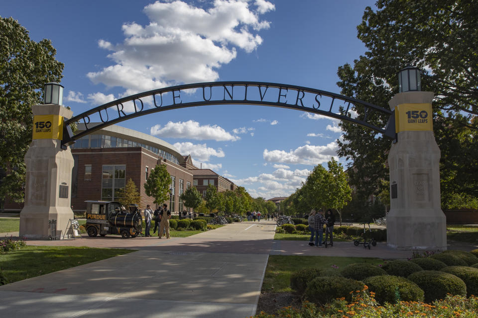WEST LAFAYETTE, IN - OCTOBER 20: General view of the campus of Purdue Boilermakers on October 20, 2018 in West Lafayette, Indiana. (Photo by Michael Hickey/Getty Images)
