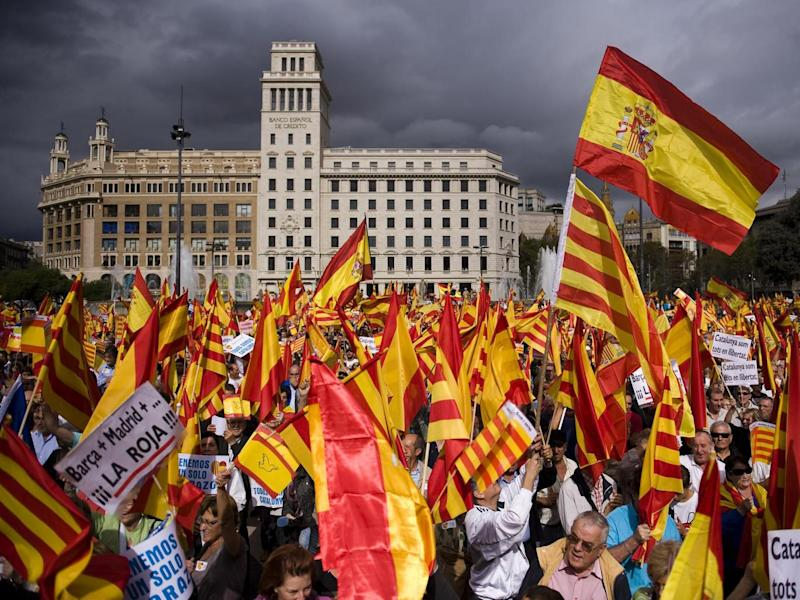 Hispanic Day has been criticised in Catalonia previously, with many activists and senior officials calling for it to be banned (Getty Images)