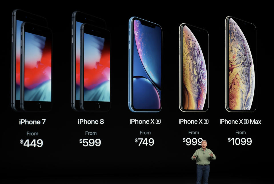 Concerns over iPhone sales growth and a cut in forecasts from a number of Apple suppliers have investors worried about the outlook for the world's largest company. (AP Photo/Marcio Jose Sanchez, File)