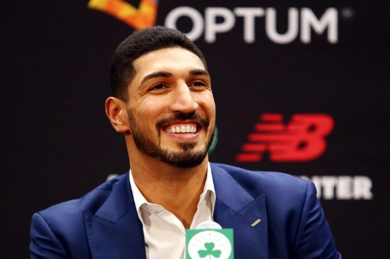 Turkish NBA player Enes Kanter strongly condemned Turkish President Recep Tayyip Erdogan and the operation launched against Kurdish forces in northern Syria (AFP Photo/Tim Bradbury)