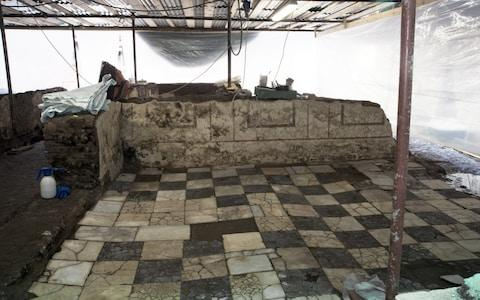 Archaeologists found marble and mosaic floors in the former barracks of the imperial Roman army. - Credit: Cultural heritage ministry