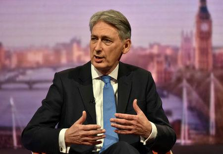 Britain's Chancellor of the Exchequer Philip Hammond attends the BBC's Marr Show in London, November 19, 2017. Jeff Overs/BBC Handout via REUTERS