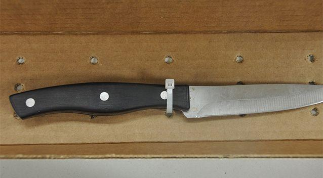 The knife used in the attack. Source: Waukesha Police Department